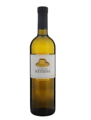 Retsina White Wine 750ml Lafkiotis-0