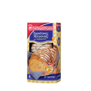 Thin Traditional Rusks 6 cereals - Friganies Horiatikes Papadopoulou 240gr-0