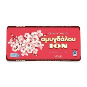 ION Amigdalou - MiIk Chocolate with almonds 100gr-0