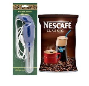 Nescafe Classic Coffee Frappe 200gr & Hand Mixer-0