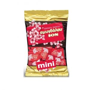 ION Amigdalou mini MiIk Chocolate with almonds 400gr bag-0
