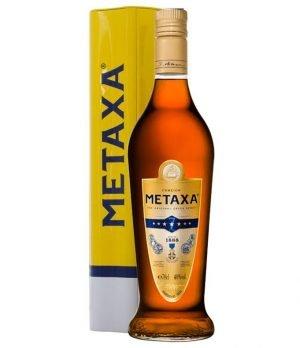 Metaxa 7* Star Brandy 700ml Gift Set-0