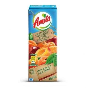 Amita Orange Apple Apricot Fruit Juice 250ml-0