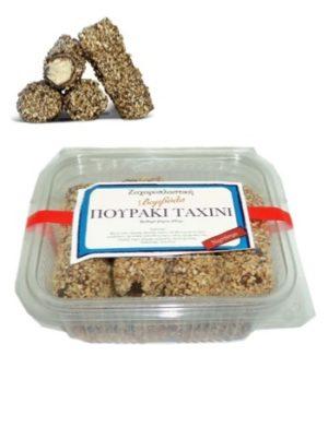 Tahini cream filled wafer rolls 280gr Vomvila-0