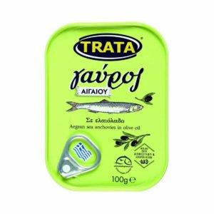 Wild anchovies in olive oil - Gavros 100gr Trata-0