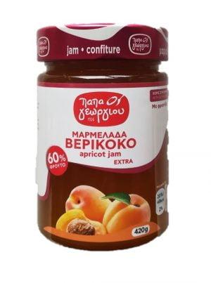 Apricot jam 420gr Papageorgiou-0