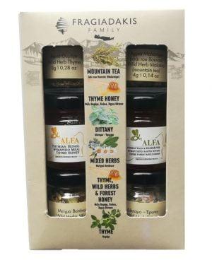 Cretan Selection Tea Herbs and Honey Gift Pack-0