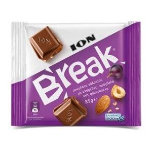 ION Break Chocolate with raisins, almonds and hazelnuts 85gr-0