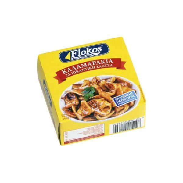 kalamarakia-Squids-piquant-sauce-160g-Flokos-Agora-Greek-Delicacies