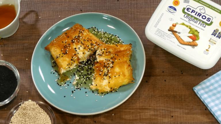 Epiros-Feta-phyllo-wraps-with-honey-and-toasted-sesame
